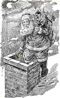 St. Nick going down chimney